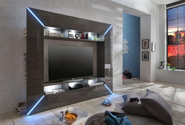 ... nappali fal és médiaszekrény, tv szekrény led világítással