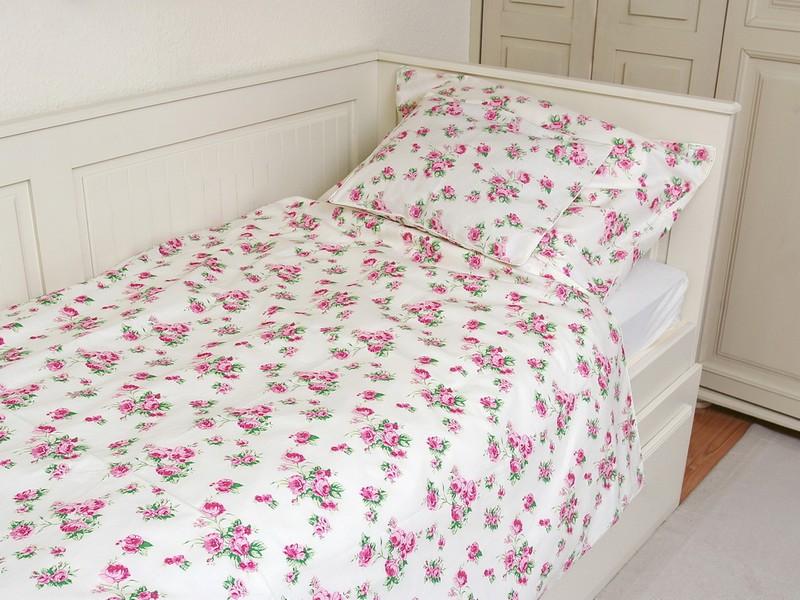 Rózsás shabby chic ágynemű ajándék