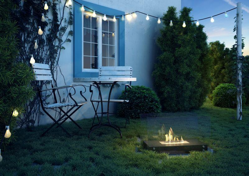 Kültéri füstmentes biokandalló kertbe mozgatható
