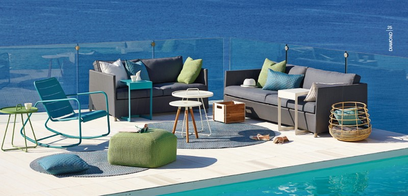 Tectona Garndis Diamond lounge kerti és kültéri garnitúra