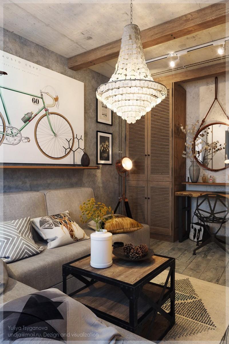 Spalettás szekrény reflektor lámpa nappaliba
