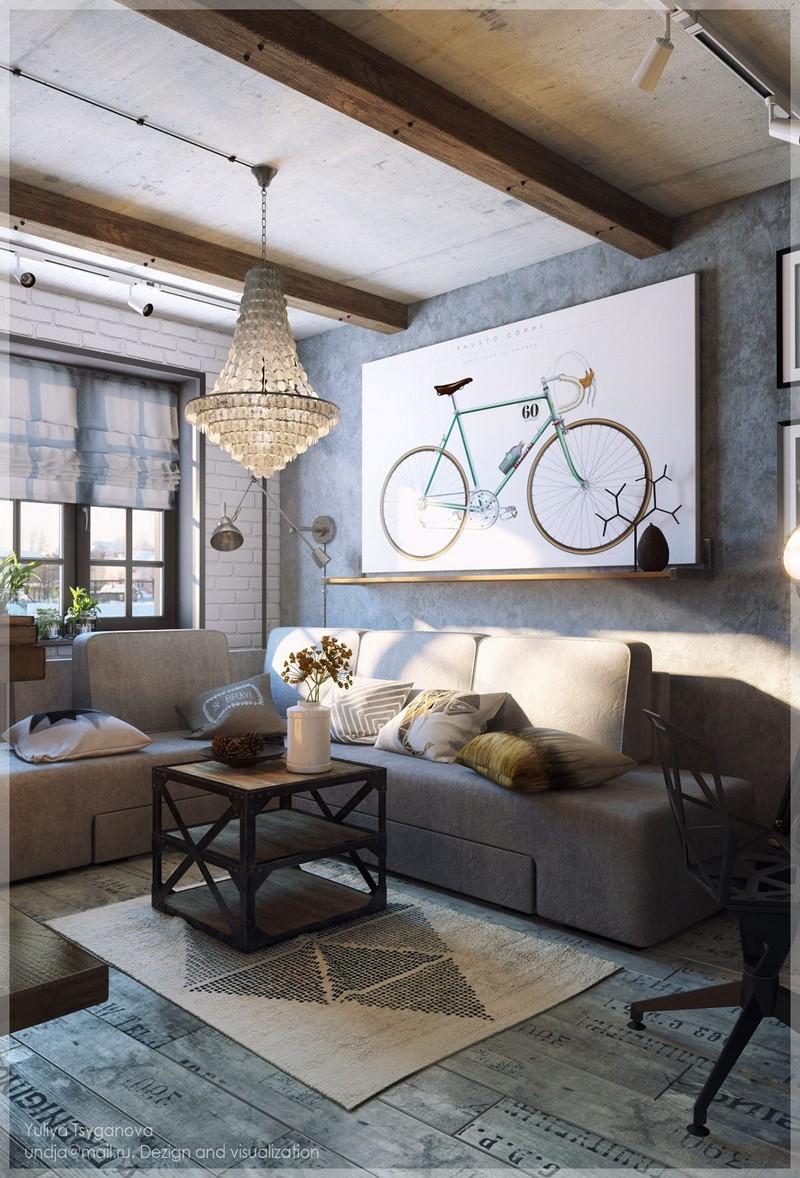 Biciklis kép nappaliba poszter