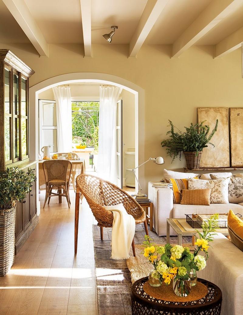Ver f nyes verand s vid ki h z spanyolorsz gb l for Idea sala de estar cuadrada