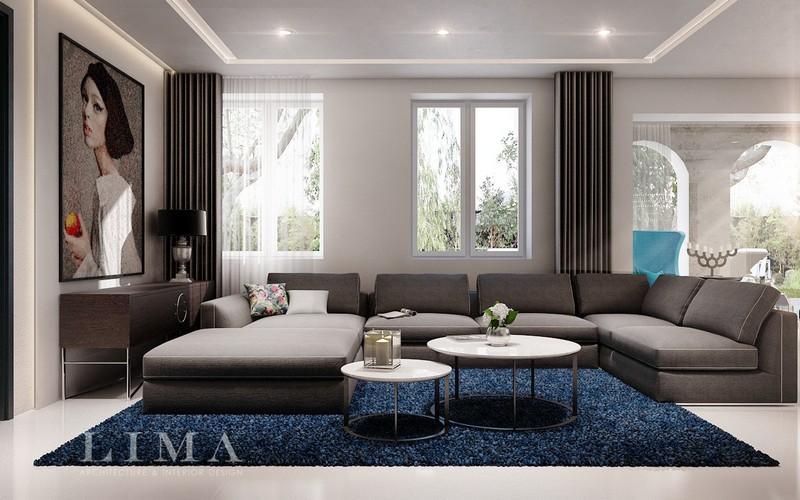 Szürke nappali lounge kanapé