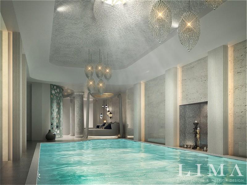 Luxus spa és úszómedence berendezés