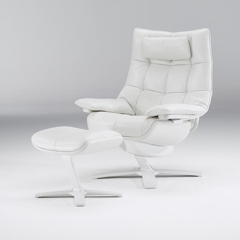 Fehér bőr Natuzzi Re Vive fotel