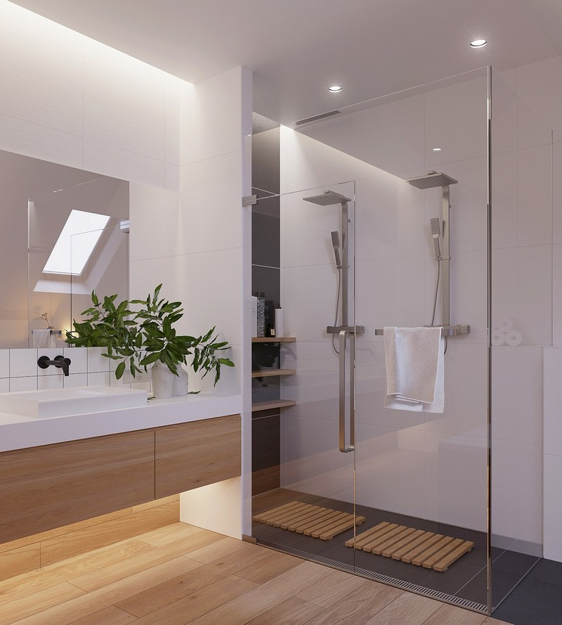 Modern és otthonos kétszintes ház skandináv lakberendezési ...
