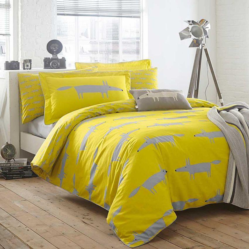 Scion Mr. Fox ágynemű minta sárga