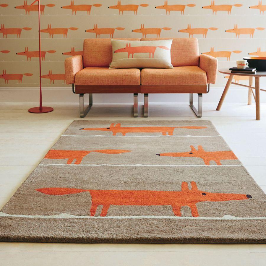 Scion Mr. Fox tapéta és szőnyeg narancssárga
