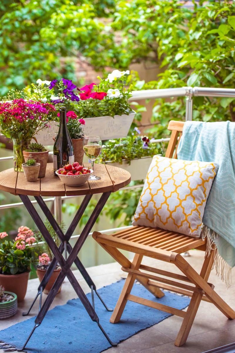 Kis erkély lakberendezési ötletek