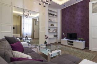 Lila, szürke és bézs lettek az uralkodó színek a 72 m2-es budapesti felújított polgári lakásban
