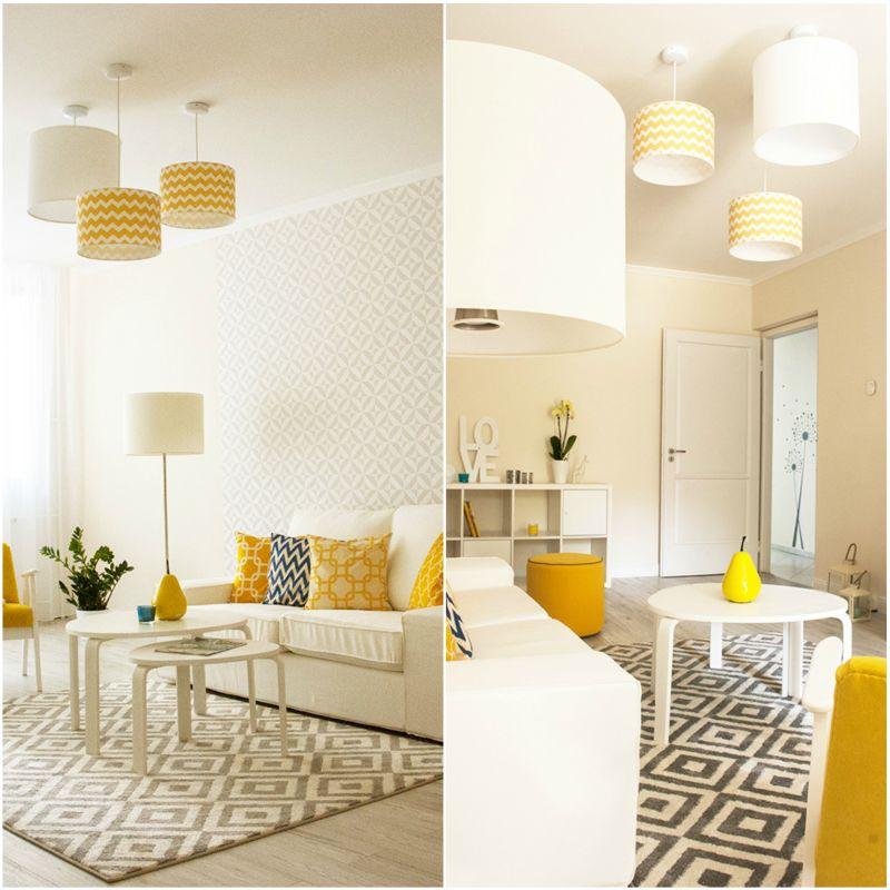 Színes lámpaernyők nappaliba