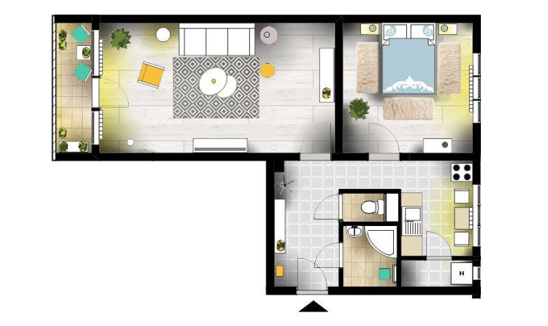 Home Staging tervezés szegedi lakás alaprajz