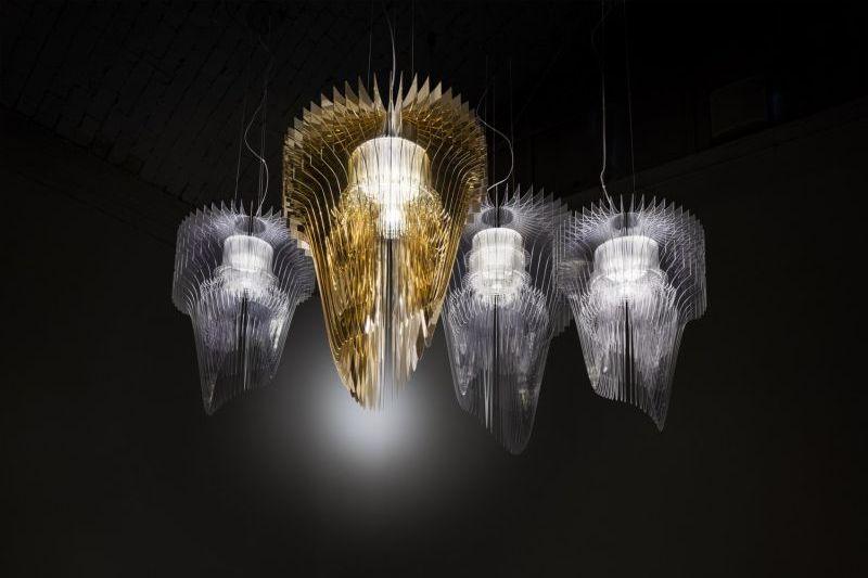 Zaha Hadid Aria gold lámpa