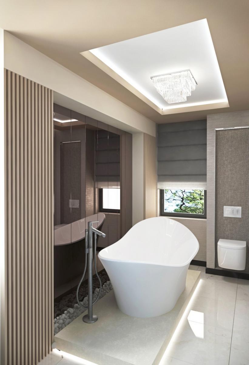New art deco fürdőszoba berendezés
