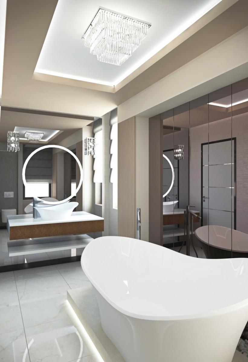 New art deco fürdőszoba berendezési tervek