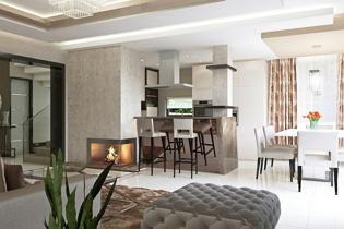 New art deco hangulatú belsőépítészet egy fiatal család Tatabányán épülő házában