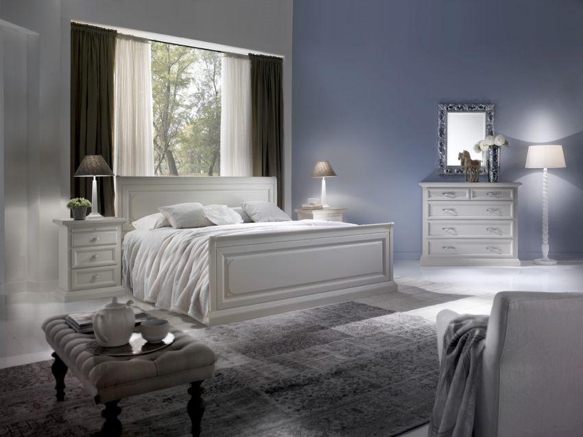 Klasszikus olasz fehér hálószoba bútor Monte Grappa Mobili
