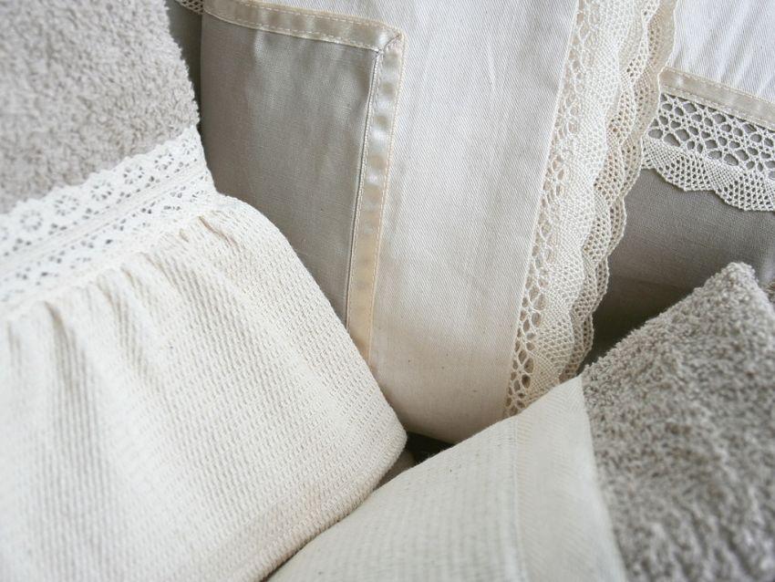 Csipke díszítés lakástextileken