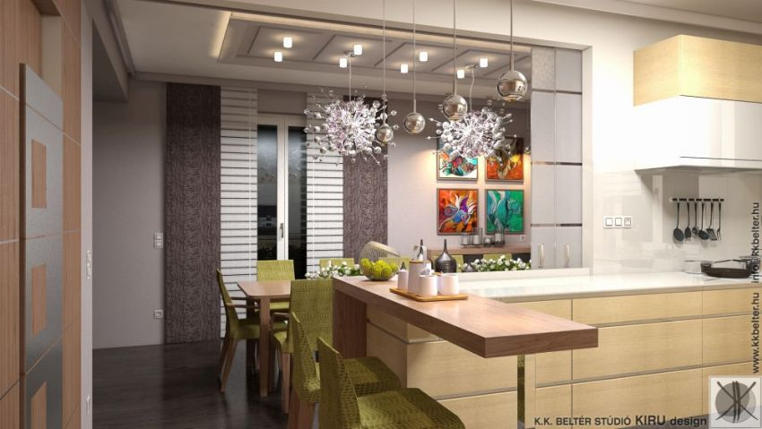 Modern egyedi konyhabútor reggelizővel