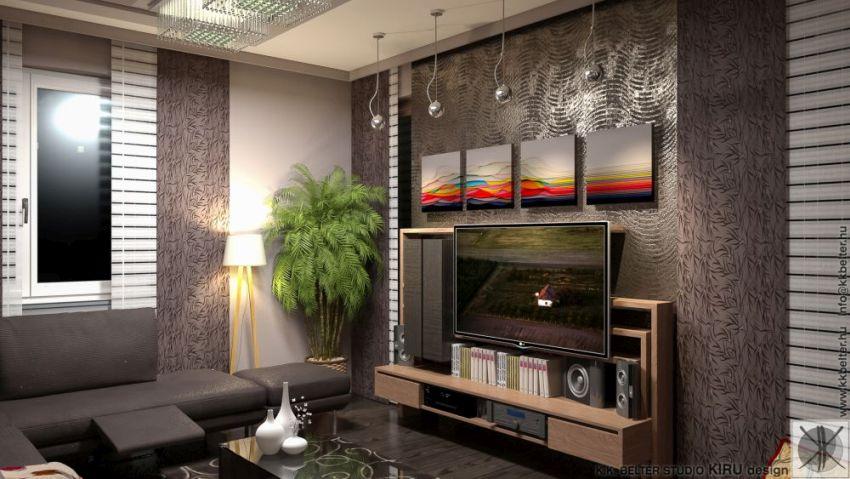 Egyedi tervezésű nappali szekrény