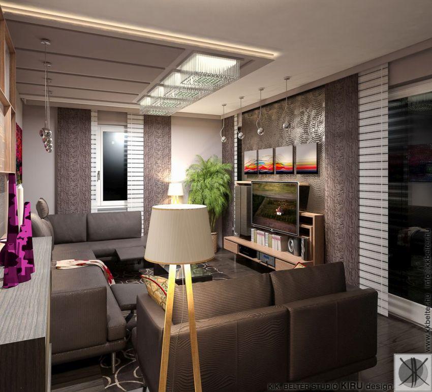 Modern nappali berendezése KK Beltér Stúdió Kecskemét