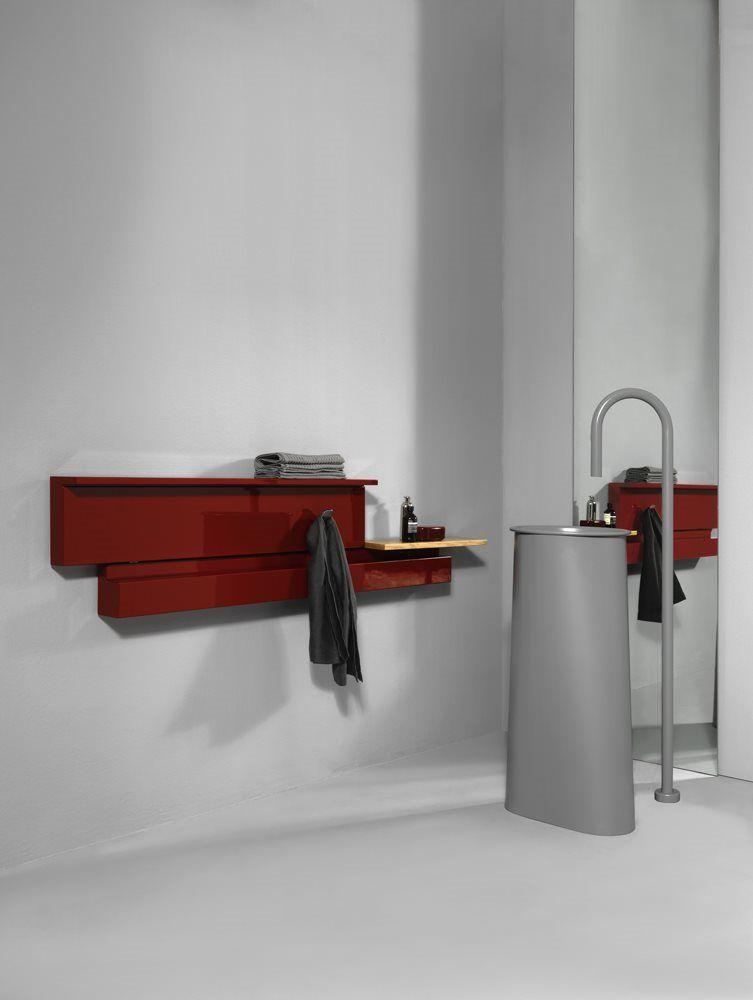 Tubes Rift piros design radiátor Baltex Home