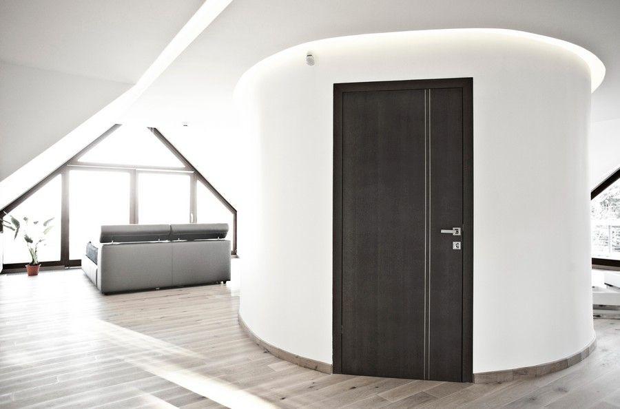 Kör alakú fürdőszoba ajtó beépítés
