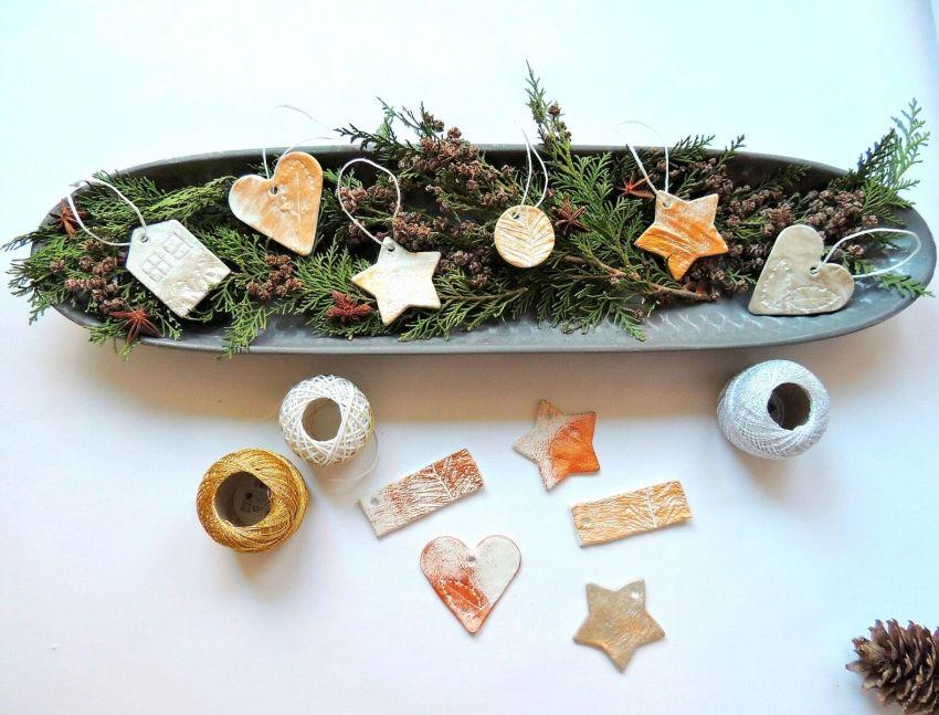 Gyurma karácsonyfa dísz