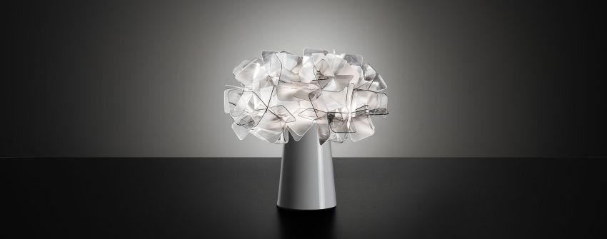 Slamp üveg asztali lámpa