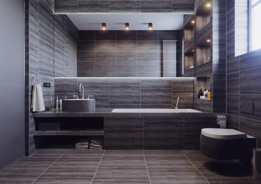 Férfias fürdőszoba design