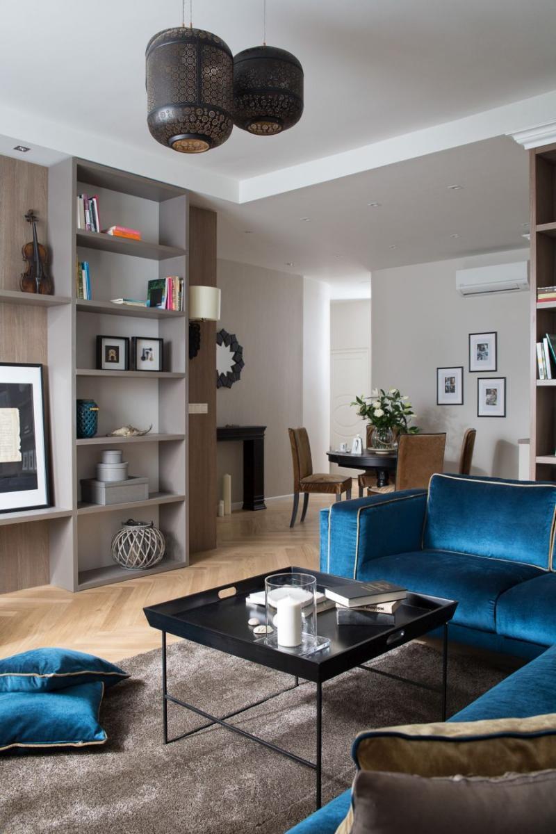 Szakos Andrea lakberendező modern nappali