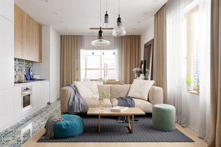 Kortárs modern lakberendezés egy 52 m2-es panellakásban