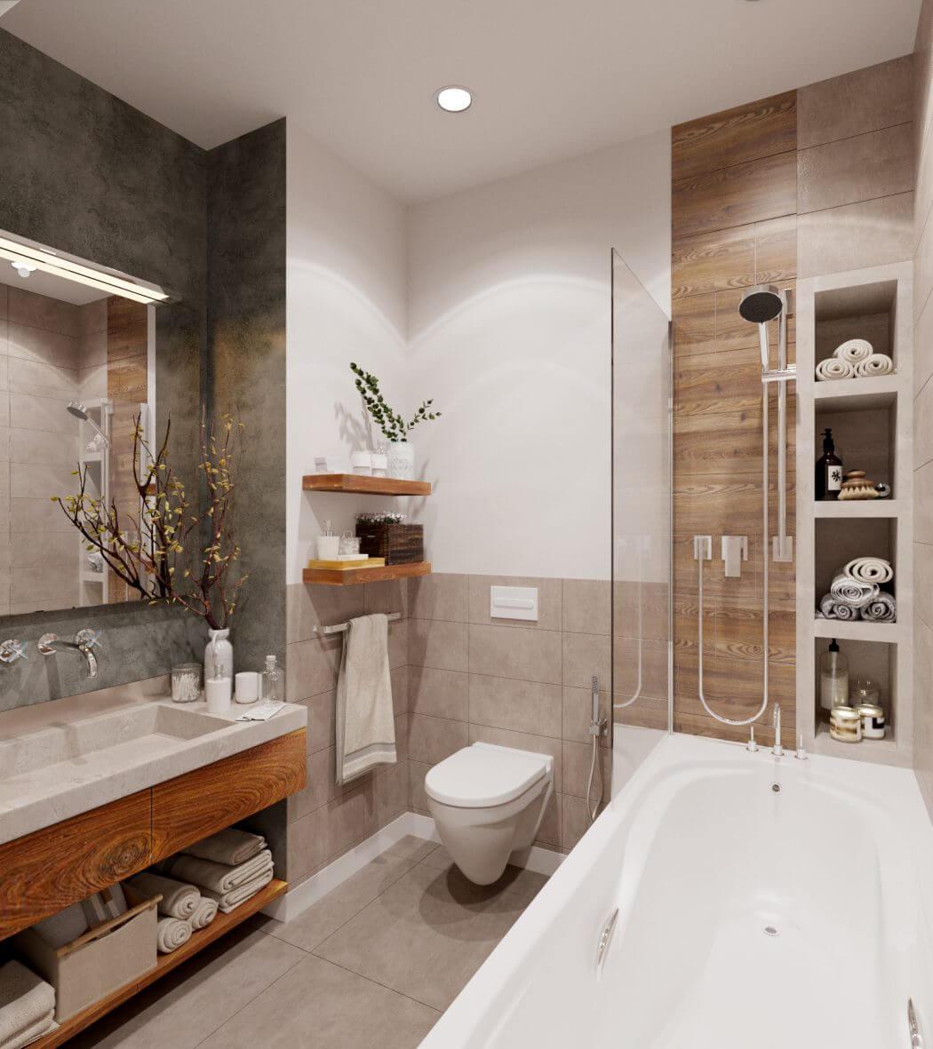 Modern kortárs fürdőszoba panelben