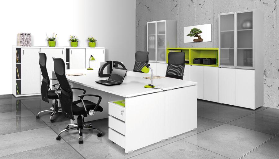 Modern fehér irodabútor