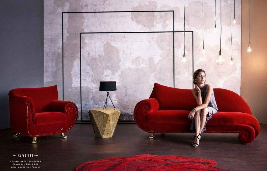 Bretz Gaudi piros kanapé