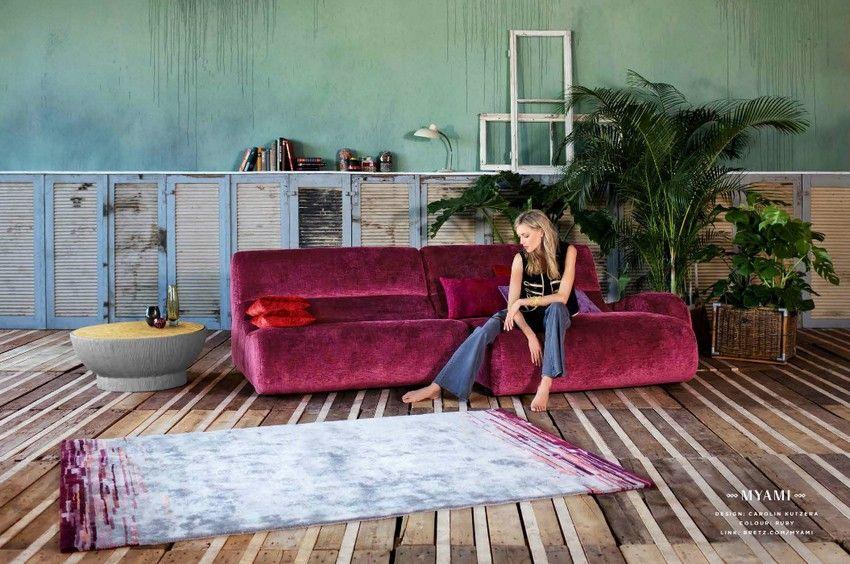 Bretz Myami kanapé lilásbordó
