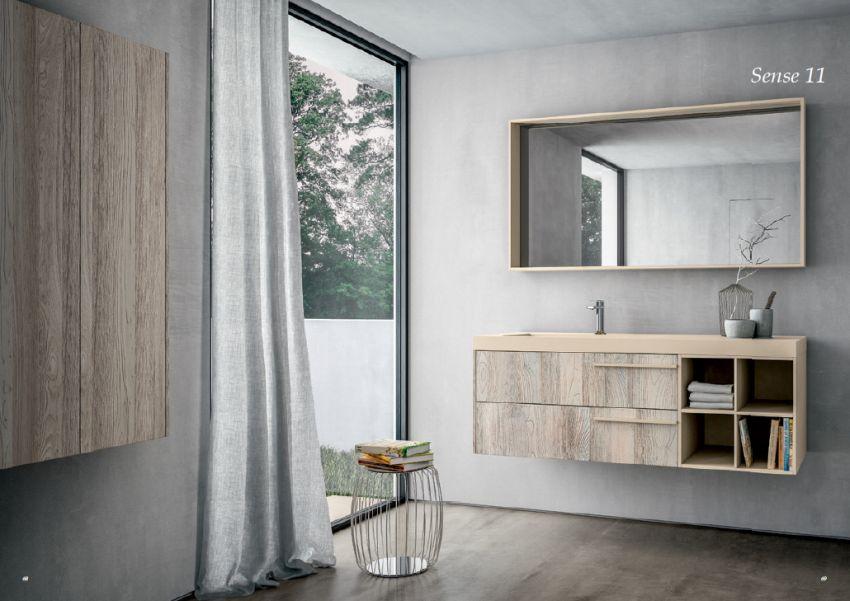 Ideagroup Sense fürdőszoba bútor natúr fa színekben