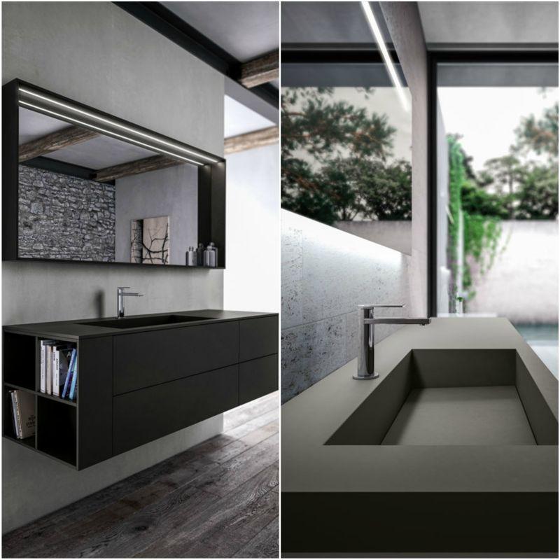 Ideagroup Sense fürdőszoba bútor színazonos mosdóval