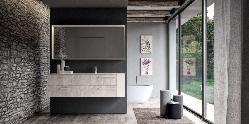 Ideagroup Sense fürdőszoba bútor natúr világos színben akril gyanta anyag