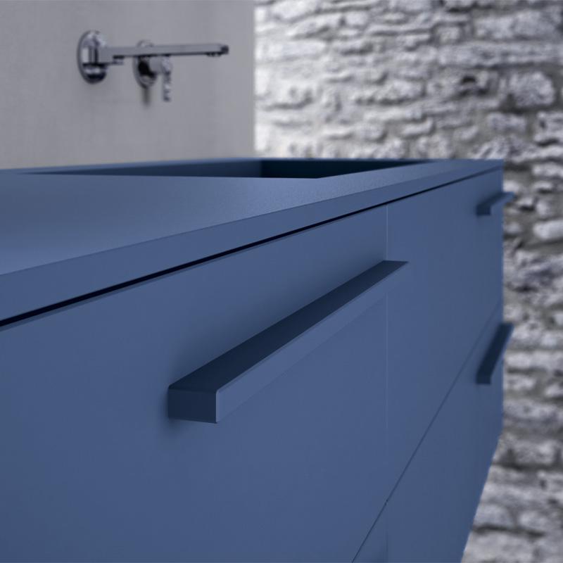 Ideagroup Sense fürdőszoba bútor színazonos fogantyú és polc