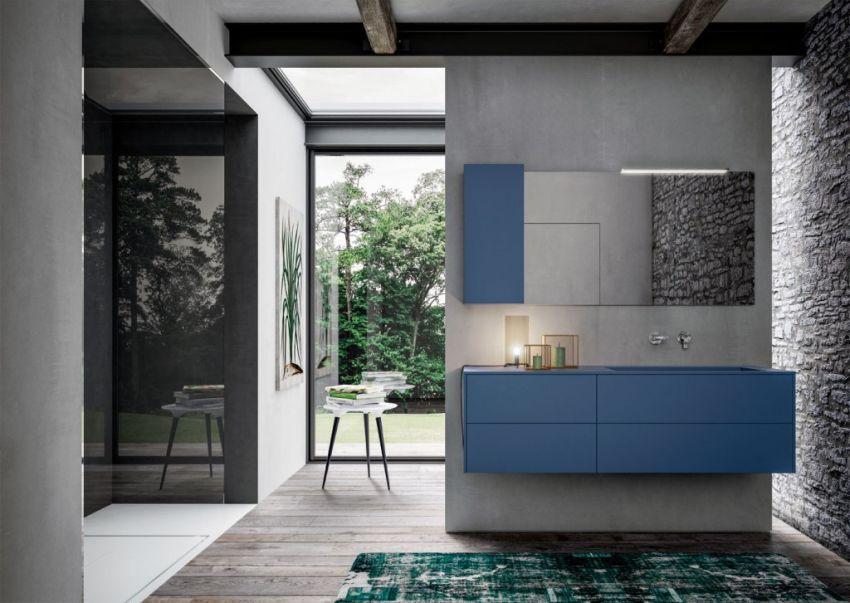 Ideagroup Sense kék fürdőszoba bútor