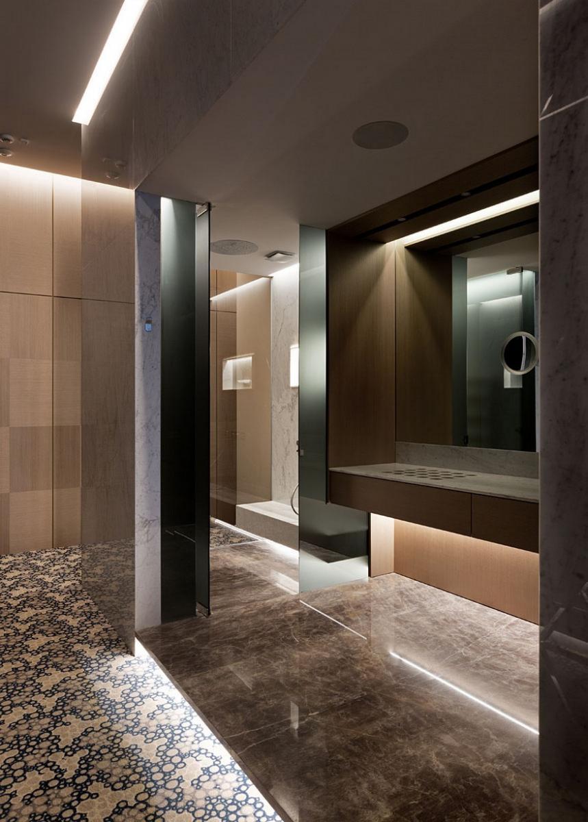 A YOD Design tervezésében luxus iroda fürdő helyiség, mellékhelyiség