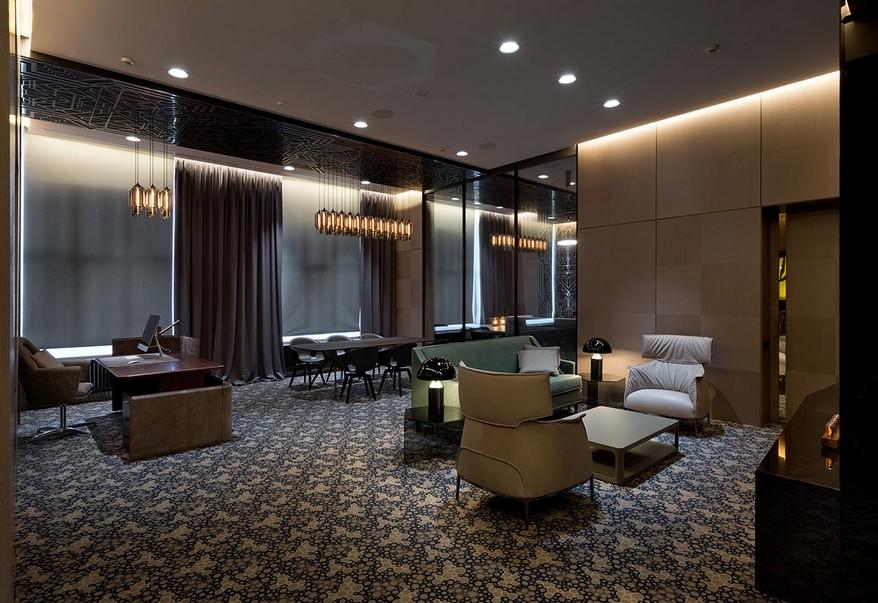 A YOD Design tervezésében luxus iroda luxus kanapék