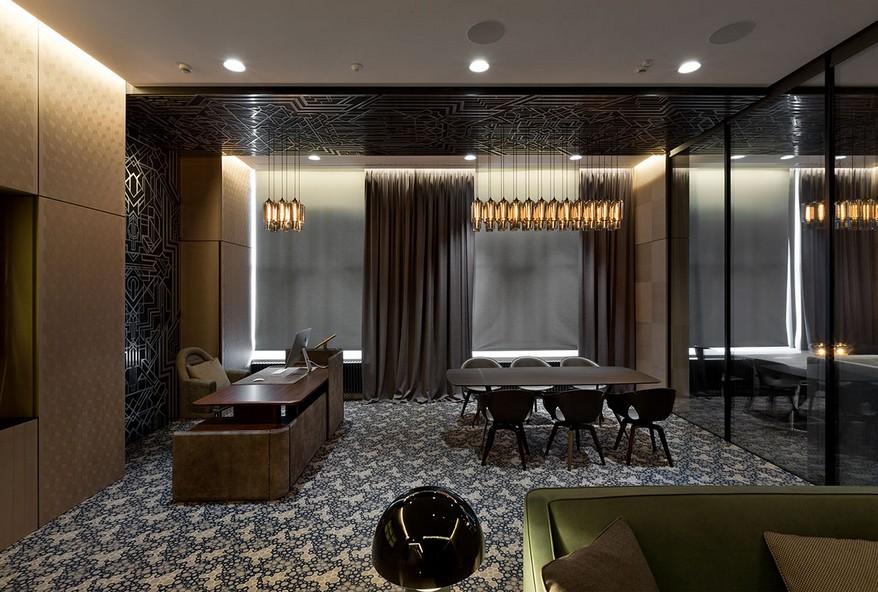 A YOD Design tervezésében luxus iroda vezetői bútorok