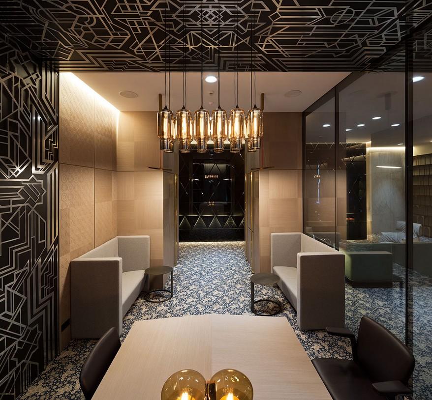 A YOD Design tervezésében luxus iroda előtér