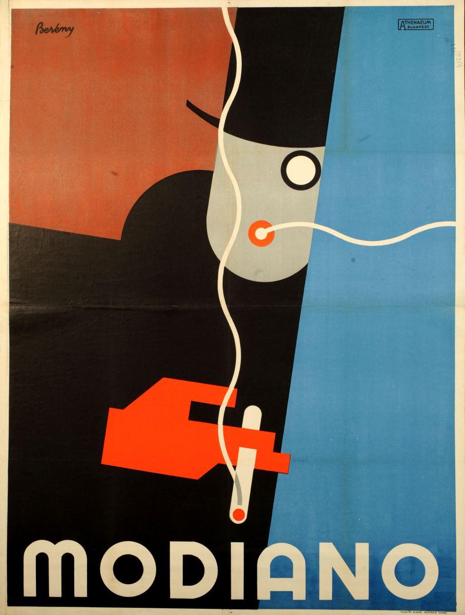 Régi cigaretta plakat Berény Róbert