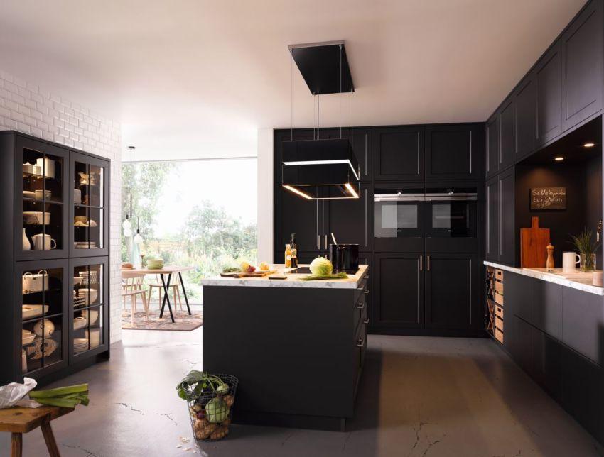 Fekete modern konyhabútor