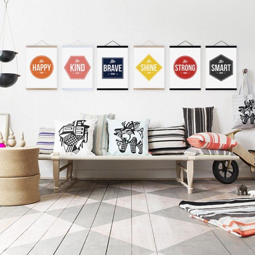 Színes faldekoráció nappaliba képekkel