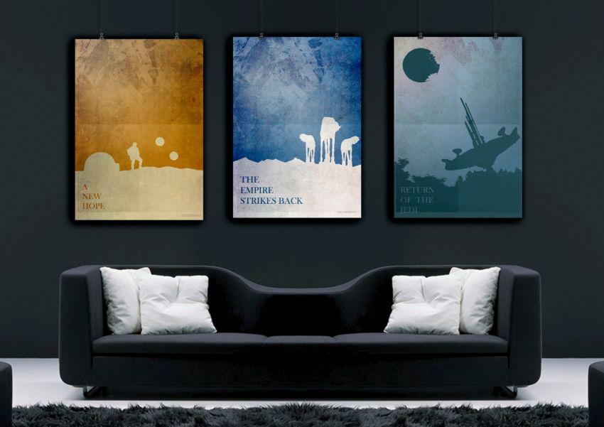 Star Wars művész képek nappaliba
